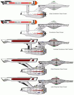 Constitution- and Enterprise-class starships