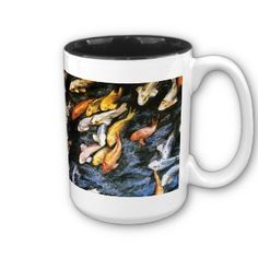 Koi Fish Pond Art Painting Mug