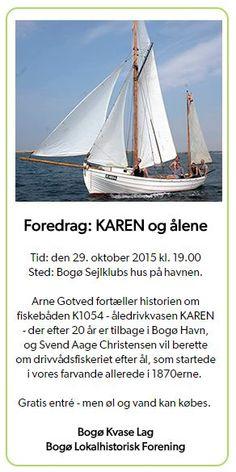 Foredrag om KAREN og ålefiskeriet i Bogø Sejlklub. Oktober 2015
