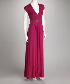 Take a look at this Magenta Bianca Maternity & Nursing Maxi Dress- Women & Plus by Annee Matthew on #zulily today!