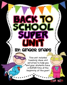 This Superhero themed backed to school unit is full of fun activities to get your kids excited about a new school year. This pack includes:* Fo...