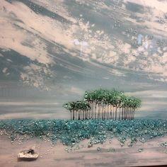 Perfect day on Western Lake.  #art#glass#30a#southwalton#graytonbeach#watercolor#seaside#maryhongstudio#maryhong#theshardshop
