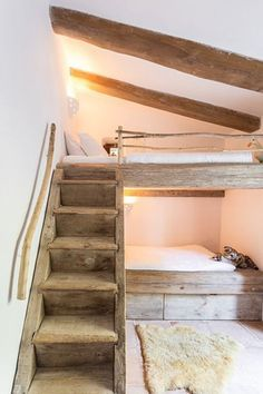 mommo design: BUNK BEDS You are in the right place about home design cheap easy diy Here w Bunk Rooms, Attic Rooms, Attic Bathroom, Attic Bed, Attic Floor, Attic Window, Small Bathroom, Attic Renovation, Attic Remodel