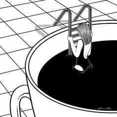 Conheça Henn Kim e suas ilustrações em P&B repletas de subjetividade…