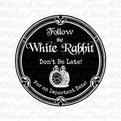 Alice In Wonderland White Rabbit Watch Wall Decor by DigitalThings