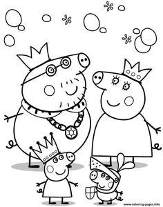Printable Peppa Pig Coloring Pages. Have a Joy with Peppa Pig Coloring Pages. Do your children like to color pictures? If they do, the Peppa pig coloring pages Peppa Pig Coloring Pages, Family Coloring Pages, Valentine Coloring Pages, Cartoon Coloring Pages, Animal Coloring Pages, Coloring Books, Coloring Sheets, Kids Colouring, Coloring Stuff