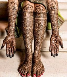 Indian intricate bridal henna