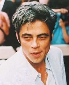 Benicio Del Toro - great salt and pepper hair.
