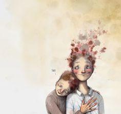 Bilderesultat for lisa aisato Art For Art Sake, People Art, Whimsical Art, Cartoon Drawings, Love Art, Watercolor Flowers, Art Forms, Art Inspo, Vector Art