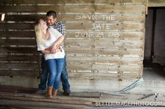 Cute Country Save the Date Photoshoot.