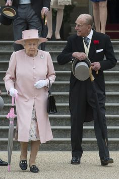 Prince Philip appeared to be in good humour as he strode along in a tailcoat and waistcoat...