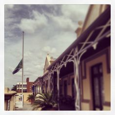 Flag at half-mast #RIPMadiba