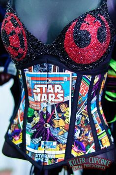 Star Wars bra by Nerds with Vaginas and corset by Castle Corsetry