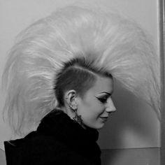 from last year #goth #mohawk #gruftie #deathhawk #tradgoth