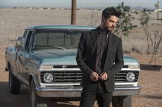 Dominic Cooper as Jesse Custer - Preacher _ Season Episode 1 - Photo Credit: Lewis Jacobs/Sony PIctures Televsion/AMC Preacher Amc, Dominic Cooper, Amc Walking Dead, Secrets Of The Universe, Tv Reviews, Sci Fi Fantasy, Movies Showing, Ny Times, Snapchat