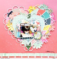 Showcase your signature style on a layout that combines some of your favorites! @pinkpaislee #ppturnthepage #scrapbooking #layout