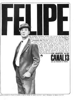 Programa de TV, FELIPE protagonizado por Luís Sandrini (foto), emitido por Canal 13, Buenos Aires en la década del 60.