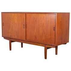 Small Børge Mogensen Teak Credenza | From a unique collection of antique and modern credenzas at https://www.1stdibs.com/furniture/storage-case-pieces/credenzas/