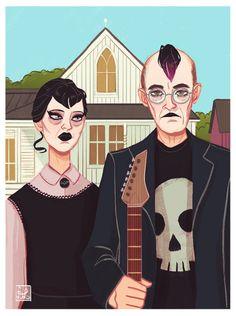 American Gothic Parody