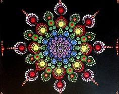 12x12 in pittura di Mandala su tela