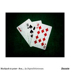 Blackjack 21 point - Ace, Ten, Ten Postcard
