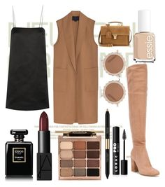 """Nude and Neutral"" by tatianabilly ❤ liked on Polyvore featuring Gianvito Rossi, The Row, Alexander Wang, Chanel, NARS Cosmetics, Stila, Estée Lauder, LORAC, House of Holland and Essie"