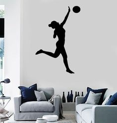 Spike Volleyball Player Vinyl Wall Decals Stickers Quotes - Sporting wall decals