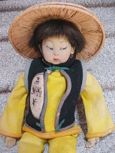 Lenci Asian Boy Boudoir Doll, 1925-1931, Catalog #188A. Click the ...