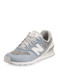 NEW BALANCE 696 Knit Lace-Up Sneaker, Blue. #newbalance #shoes #flats