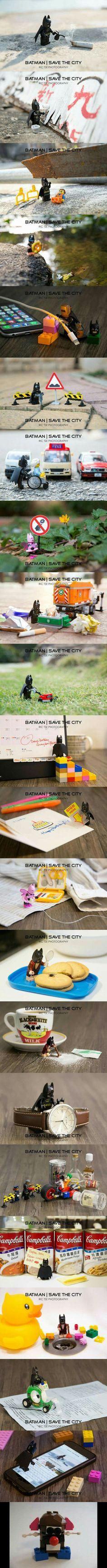 Lego BM savin' the City
