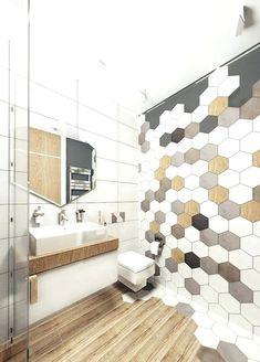 hexagon tile bathroomhex tiles mosaics on the wall and wooden floors make the bathroom carrara marble hexagon tile bathroom