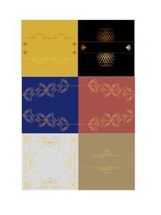 Visuele stijl 5 ART DECO Eigen gemaakte samenstelling van grafische elementen/versieringen en opvallende kleuren