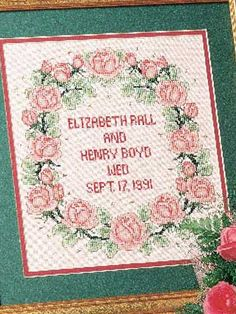 Cross-Stitch - Decor - Wedding Roses