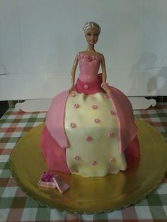 Pink dress doll