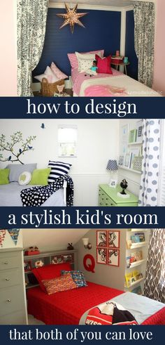 Design a kid's room that you AND your child will love! Tips from @Remodelaholic #spon #decorating #kidsroom