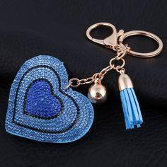 Acessórios para Bolsa Pingente de Coração Azul Bolsas Divertidas