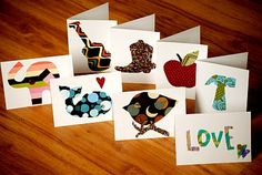 LOVE these - Easy homemade notecards - perfect for gifts.