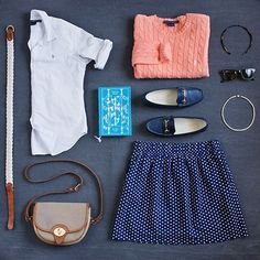 Preppy uniform.