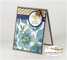Stampin Up A Dozen Thoughts for Stamping and Blogging Sketch Challenge #108 - card by Sandi @ www.stampingwithsandi.com