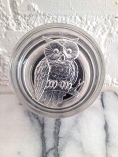 Vintage Lucite Box w/ Owl  Round Clear Owl by VintageMomentsShop, $14.00