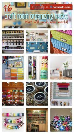 16 Craft Room Organizing Hacks
