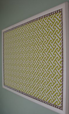"Decorative Bulletin Board - Memo Board -  17 x 23"" Large with Nail Trim. $56.00, via Etsy."