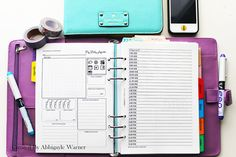 Blogger Daily Agenda  Day On Two Pages  A5 Filofax Organiser Printable Packet- I really like this, but I don't like the space for weight and social media (since I'm not a blogger)