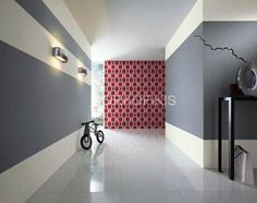 grey & white colored walls