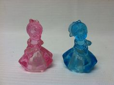 Vintage blue pink  dress doll hard plastic by ChildrenDreamBig, $3.75