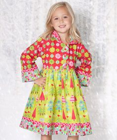 Another great find on #zulily! Lime Oh Christmas Tree Hannah Dress - Toddler & Girls #zulilyfinds