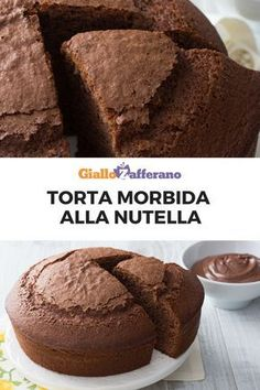 The soft Nutella cake is a delicious sweet, tall and soft, perfect for breakfast or as a snack. To make it even more amazing you can fill it with other nutella or with milk cream! Sweet Recipes, Cake Recipes, Dessert Recipes, Quick Easy Desserts, Fun Desserts, Cupcakes, Cupcake Cakes, Nutella Cake, Nutella Recipes