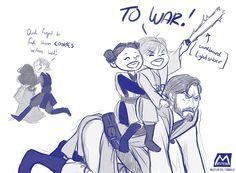 Poor Obi-Wan has to play babysitter.
