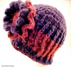 Flower knitted hat