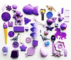 """LT. PURPLE Findings Lot: One Quart-Sized (8""""x 7"""") Ziploc Bag Full of Tiny Toys; Some Vintage Pieces; Unique Craft Supplies; S13 by PaperAndRagVintage on Etsy https://www.etsy.com/listing/287575565/lt-purple-findings-lot-one-quart-sized"""